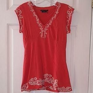 BCBGMaxazria Orange top